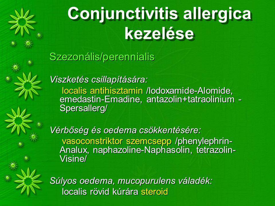 Conjunctivitis allergica kezelése