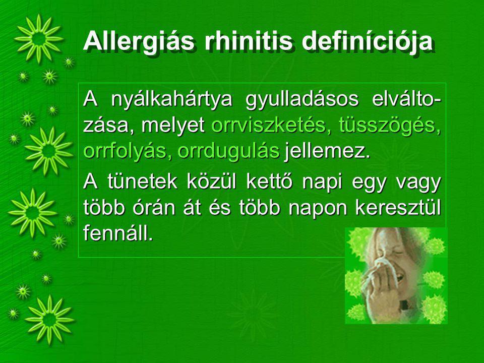 Allergiás rhinitis definíciója