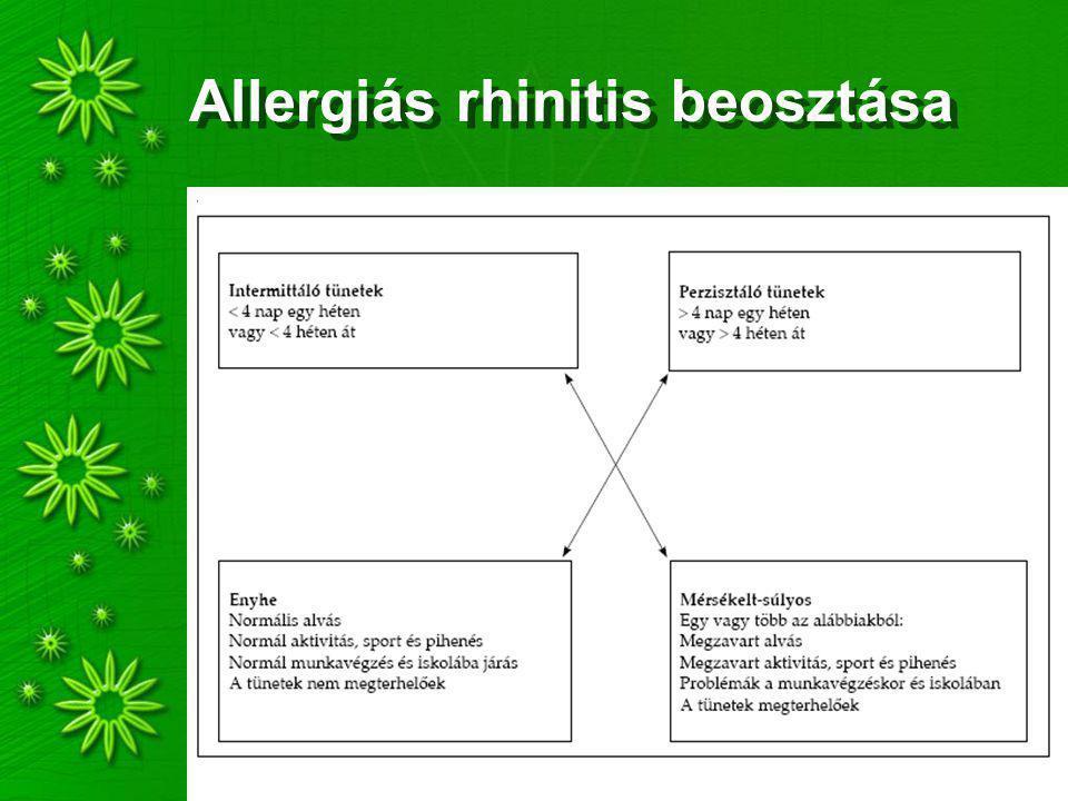 Allergiás rhinitis beosztása