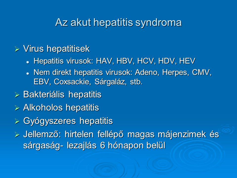 Az akut hepatitis syndroma