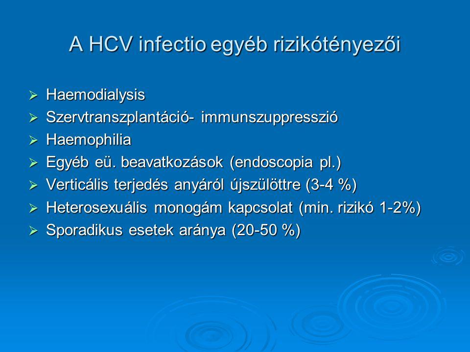 A HCV infectio egyéb rizikótényezői