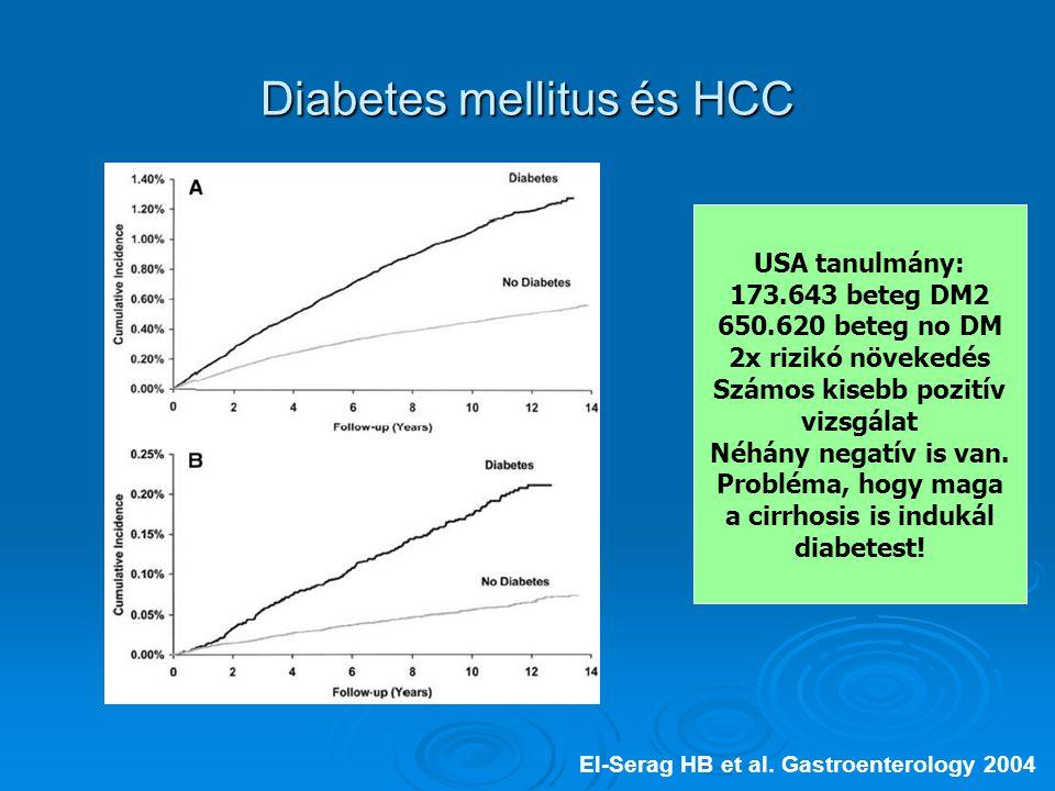 Diabetes mellitus és HCC