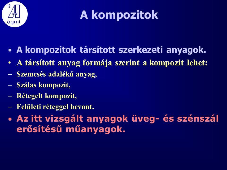 A kompozitok A kompozitok társított szerkezeti anyagok.
