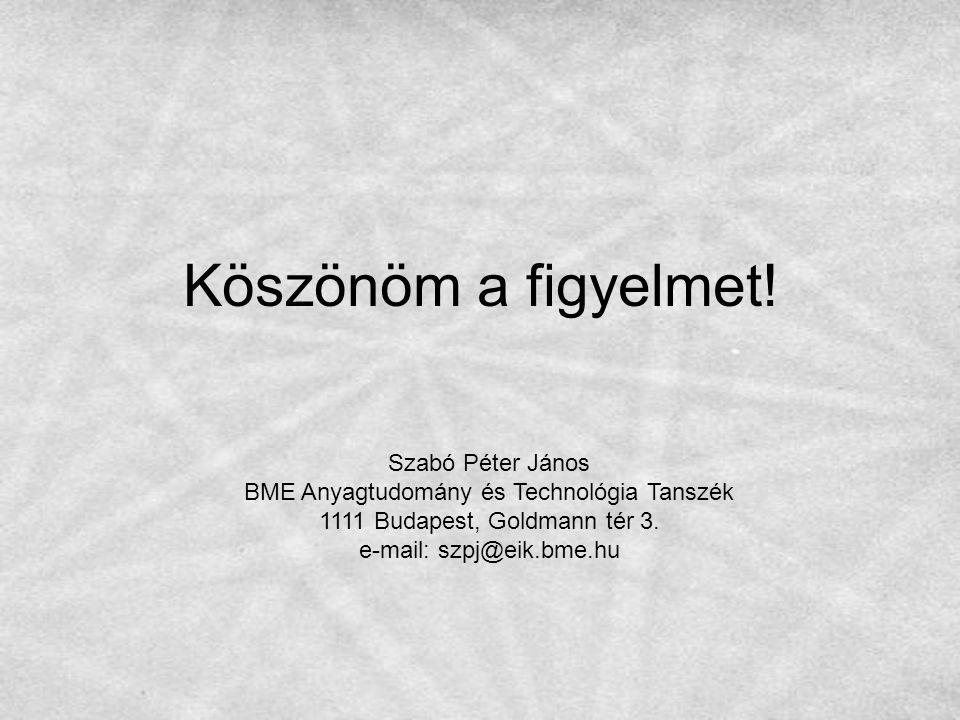 Köszönöm a figyelmet! Szabó Péter János