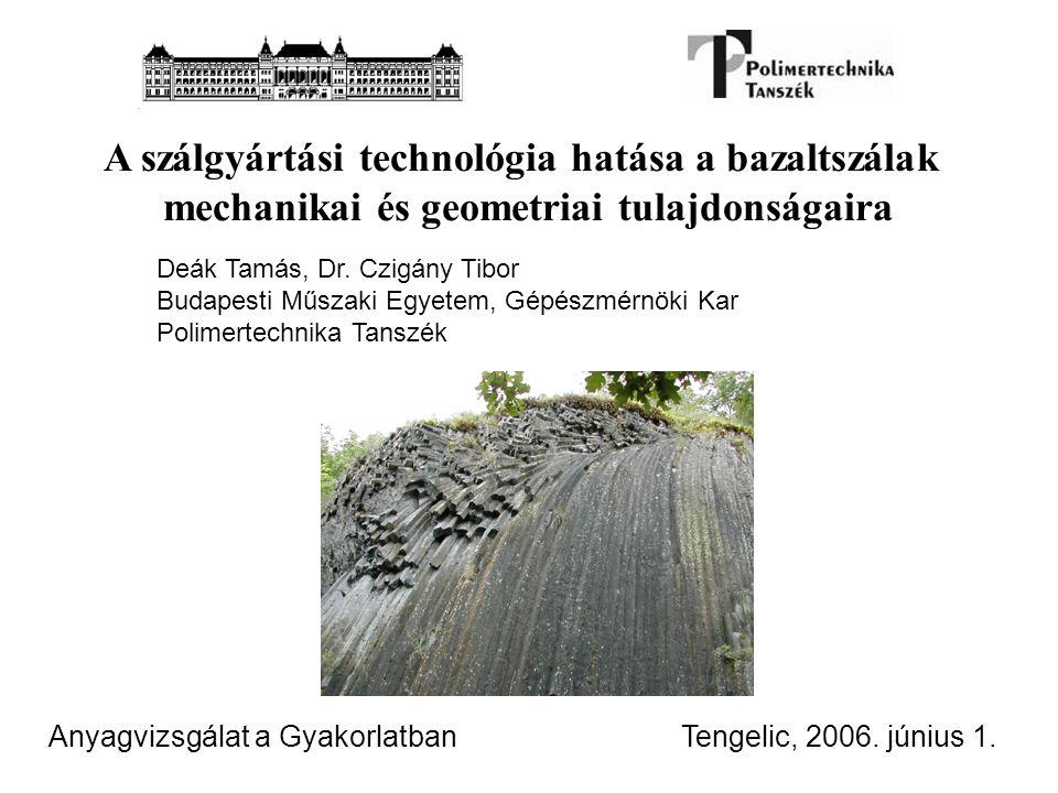 A szálgyártási technológia hatása a bazaltszálak