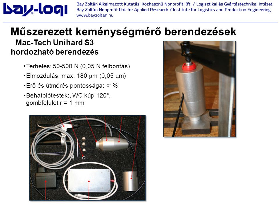 Mac-Tech Unihard S3 hordozható berendezés