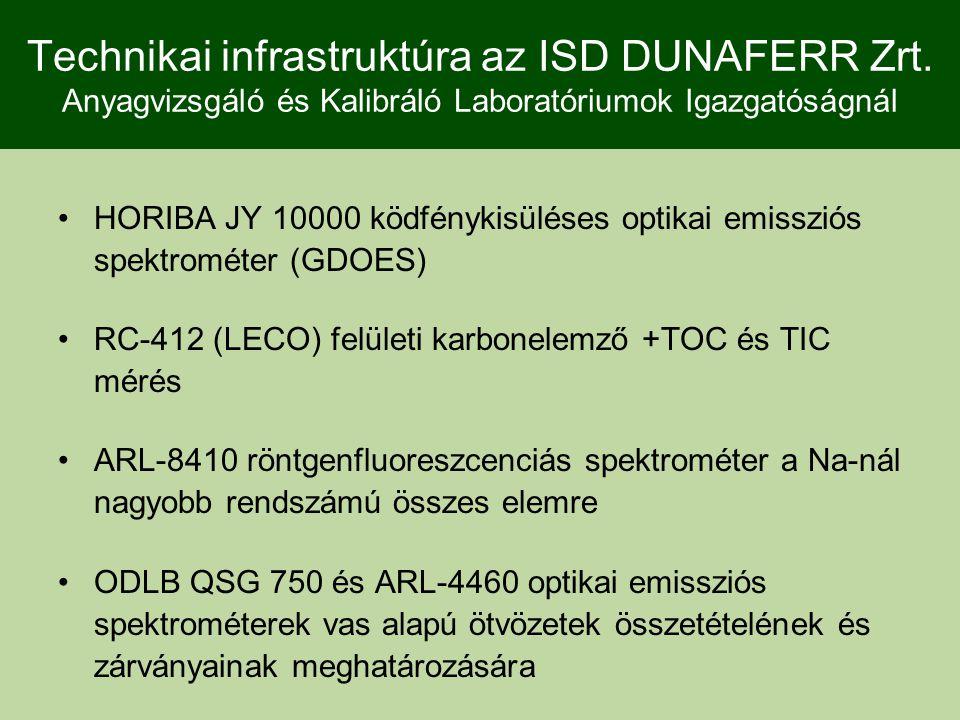 Technikai infrastruktúra az ISD DUNAFERR Zrt