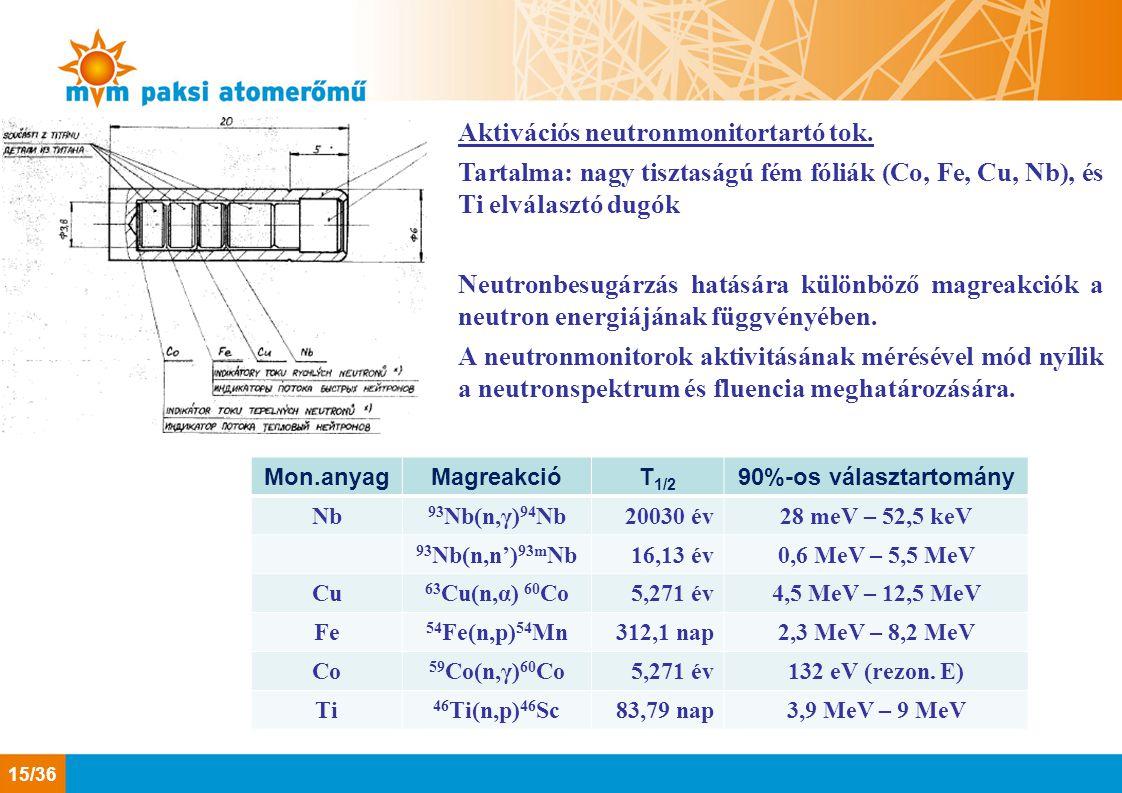 Aktivációs neutronmonitortartó tok.