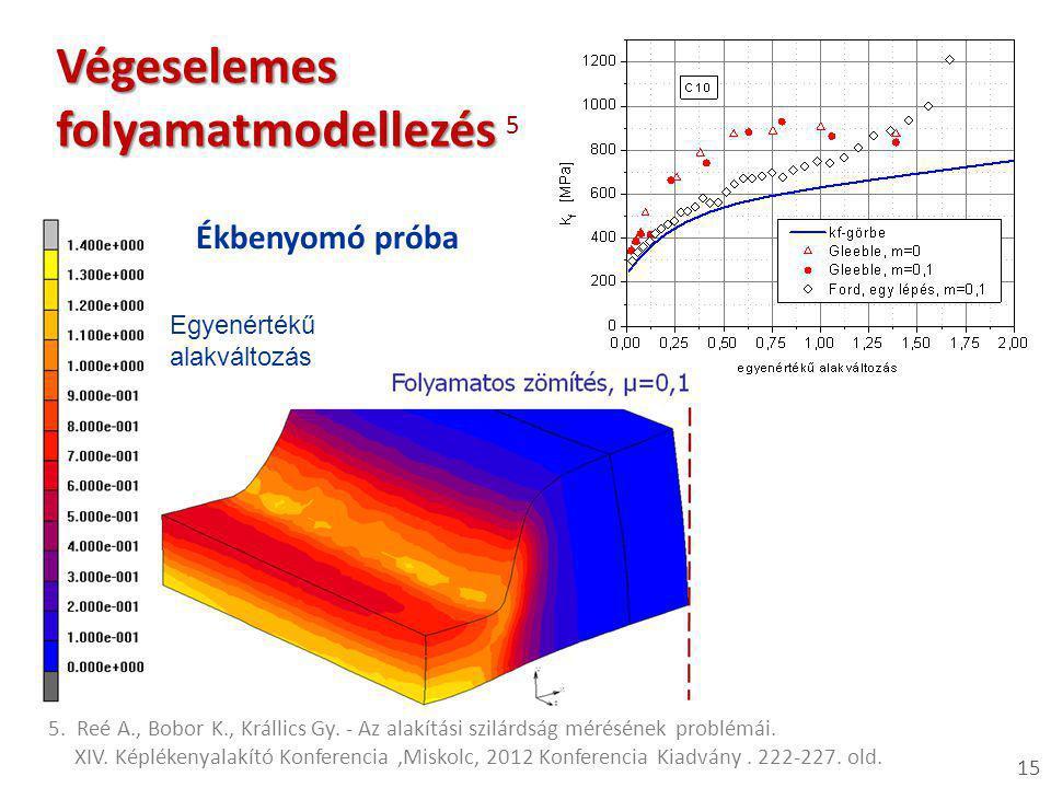 Végeselemes folyamatmodellezés 5