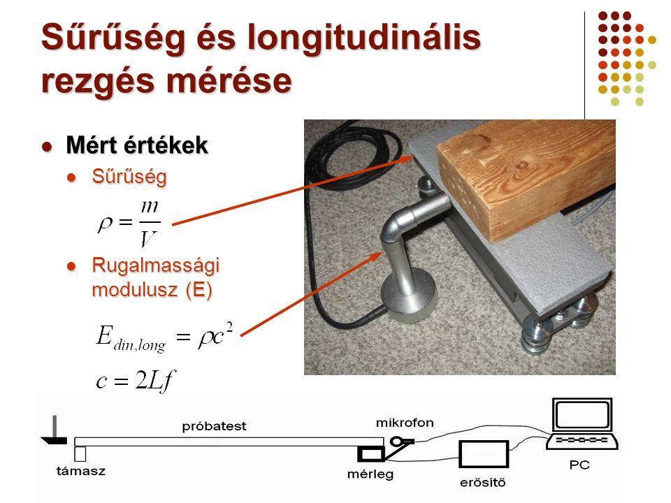 Sűrűség és longitudinális rezgés mérése