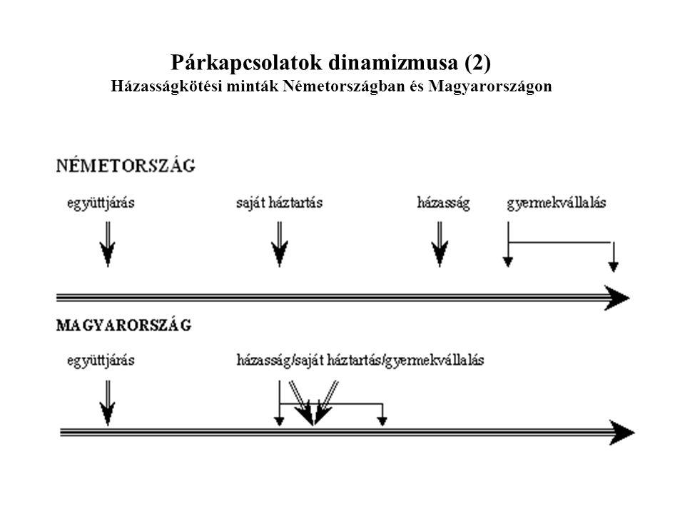 Párkapcsolatok dinamizmusa (2) Házasságkötési minták Németországban és Magyarországon