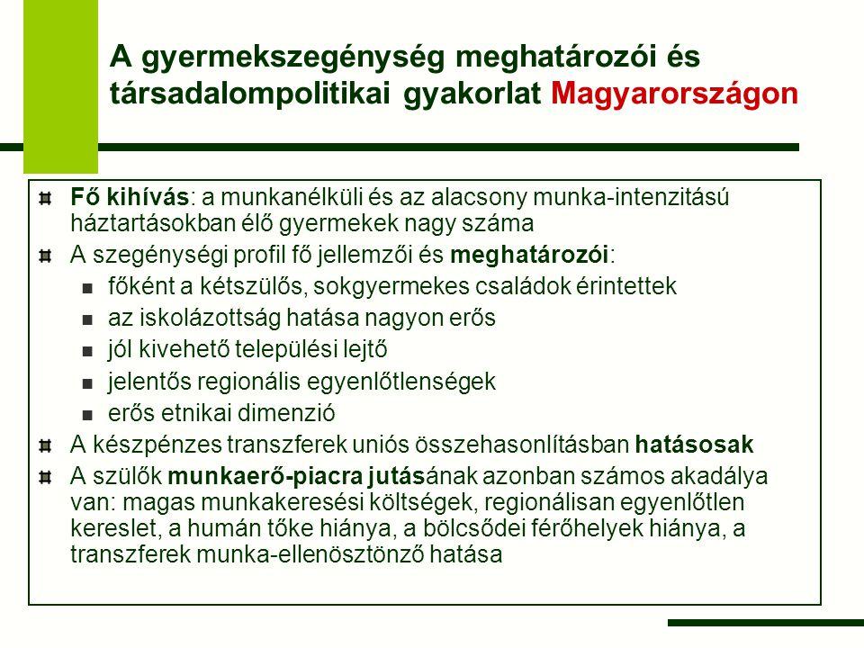A gyermekszegénység meghatározói és társadalompolitikai gyakorlat Magyarországon