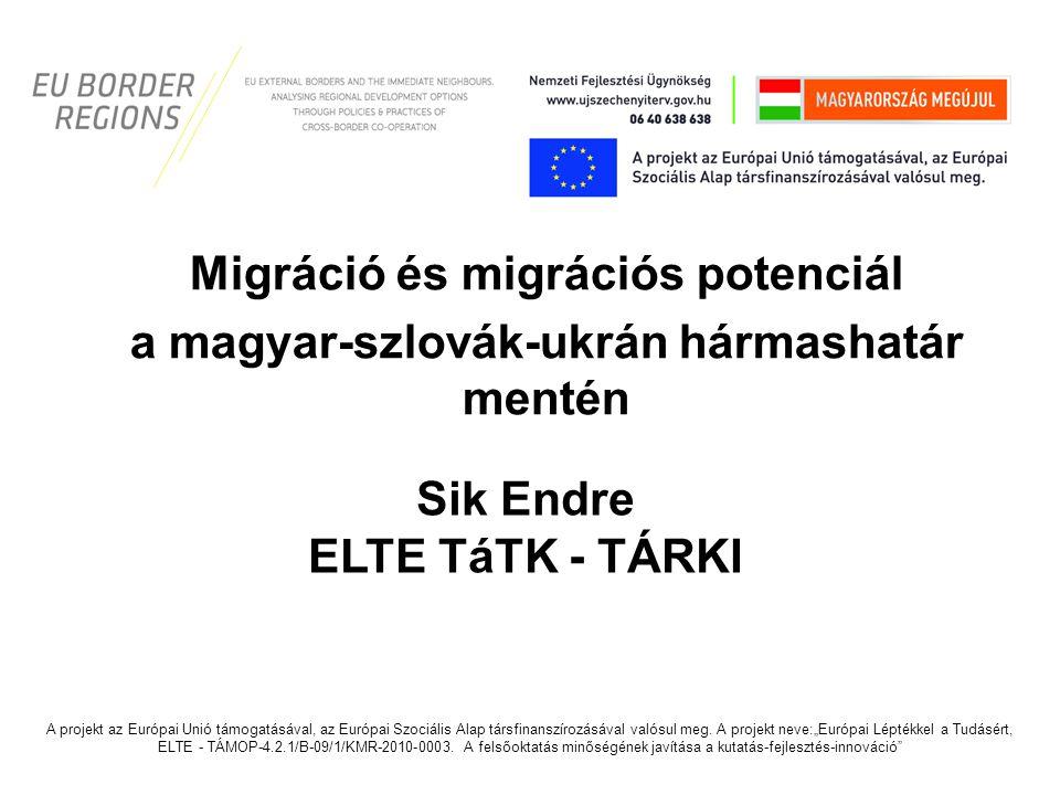 Migráció és migrációs potenciál