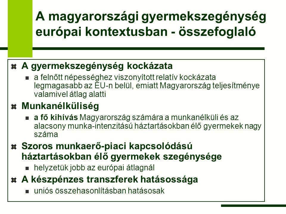 A magyarországi gyermekszegénység európai kontextusban - összefoglaló