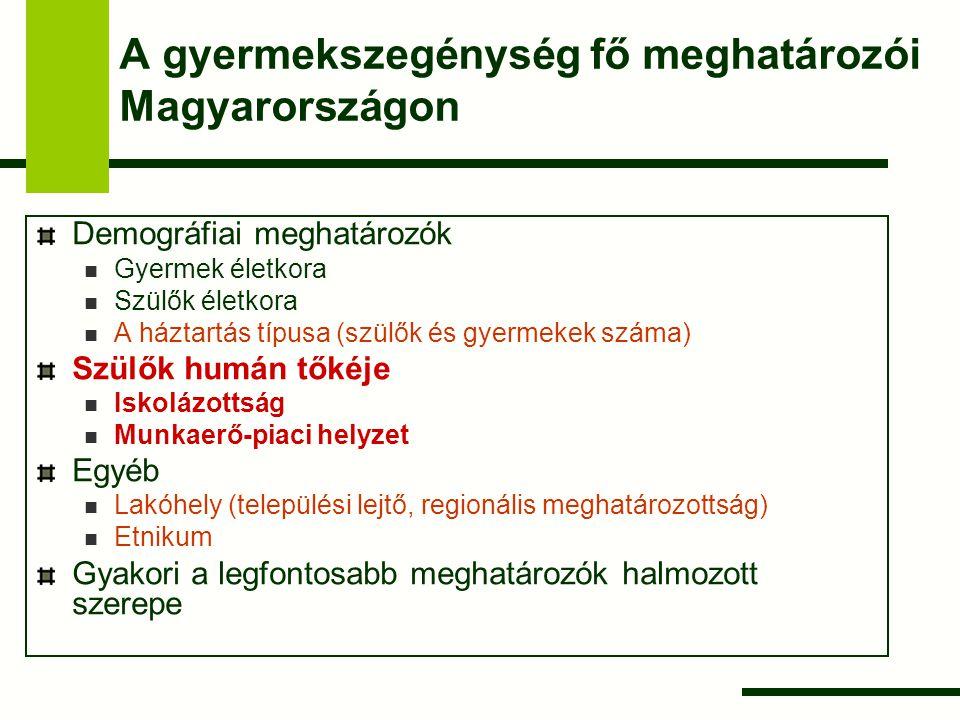 A gyermekszegénység fő meghatározói Magyarországon