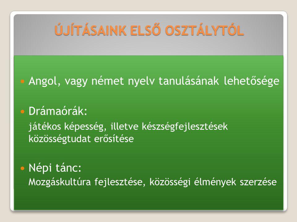 ÚJÍTÁSAINK ELSŐ OSZTÁLYTÓL