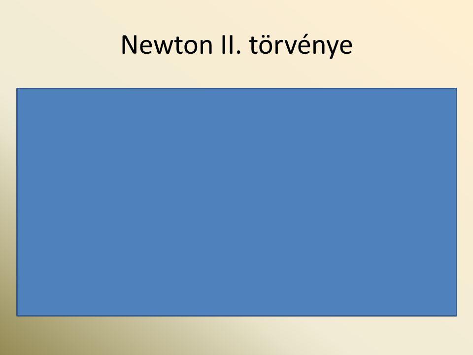 Newton II. törvénye A dinamika alaptörvénye: F = m·a