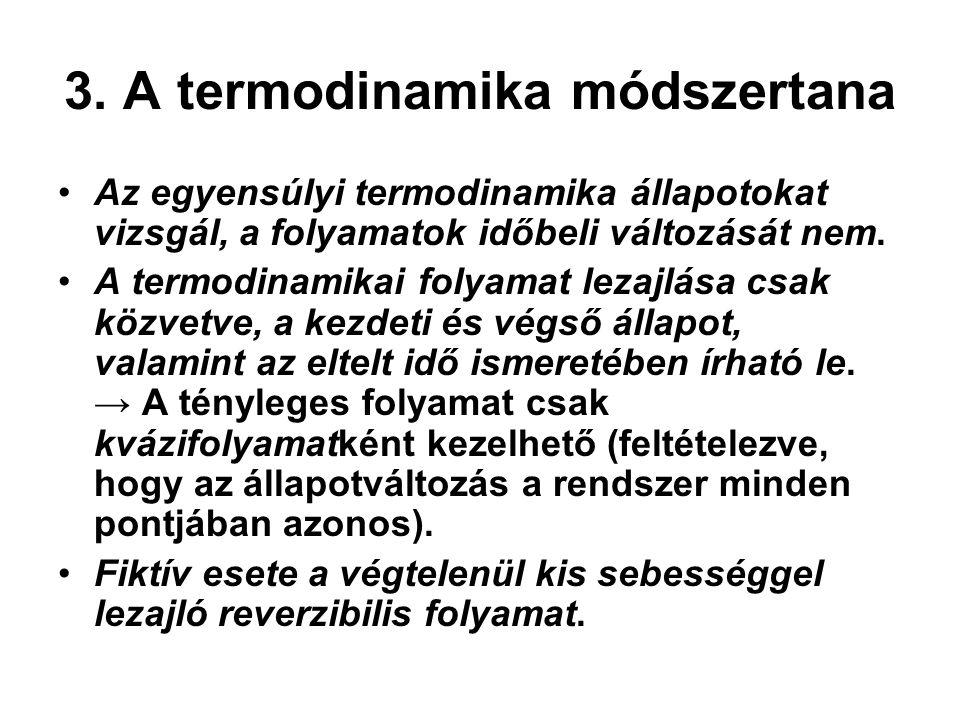 3. A termodinamika módszertana
