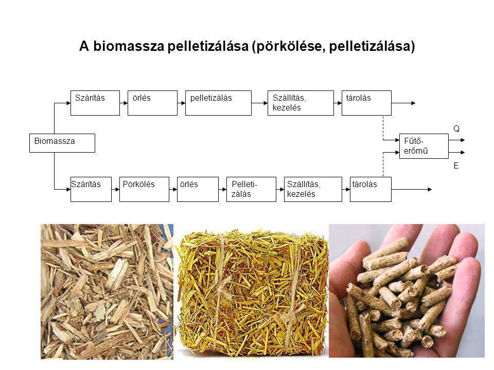 A biomassza pelletizálása (pörkölése, pelletizálása)