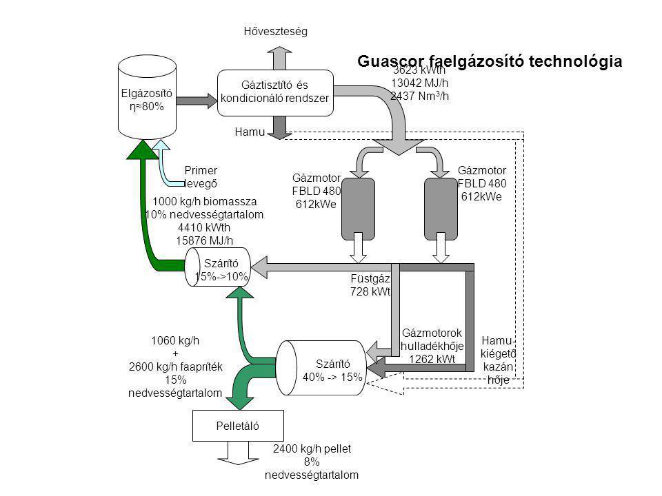 Guascor faelgázosító technológia