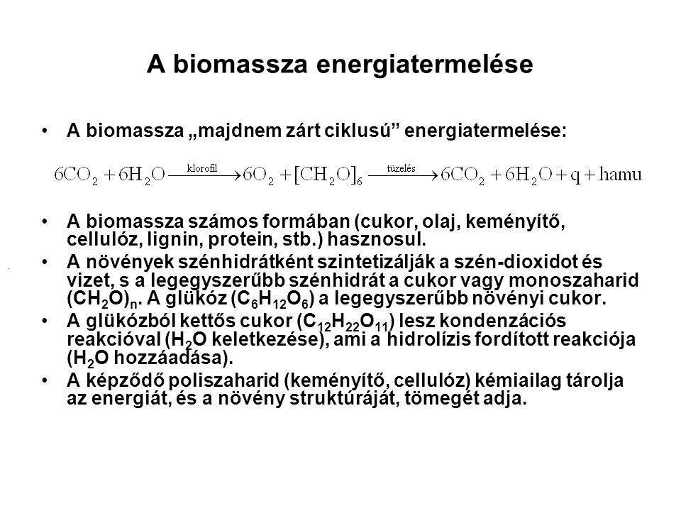 A biomassza energiatermelése