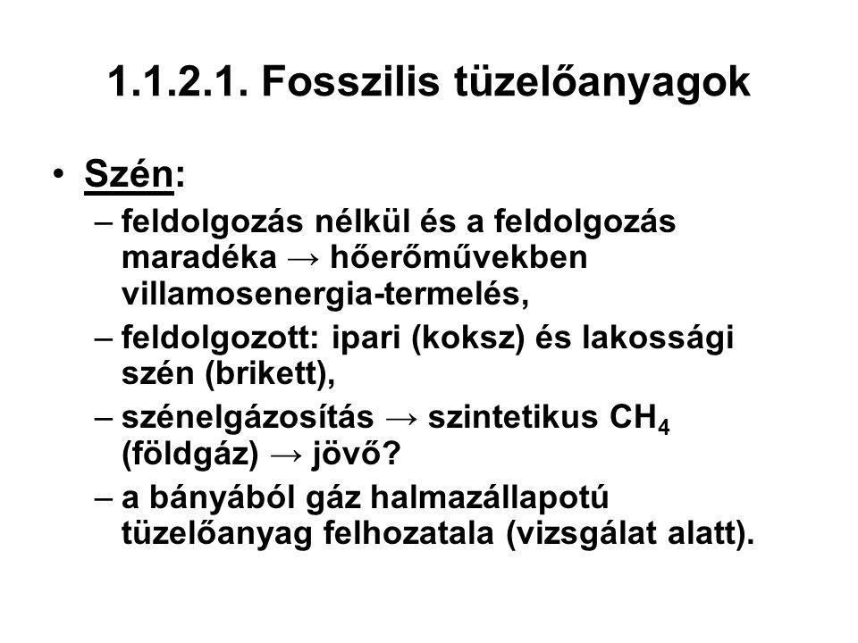 1.1.2.1. Fosszilis tüzelőanyagok