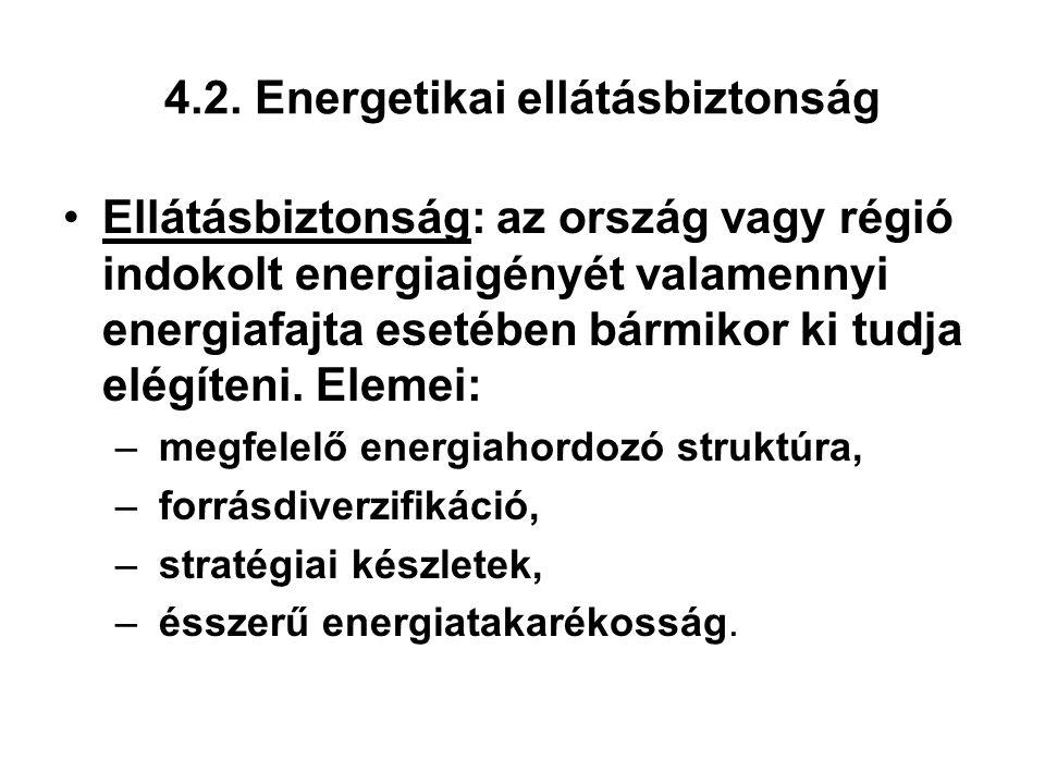 4.2. Energetikai ellátásbiztonság