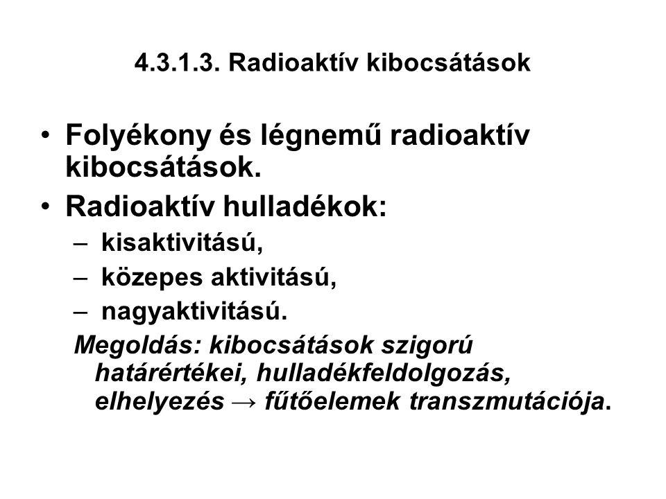 4.3.1.3. Radioaktív kibocsátások