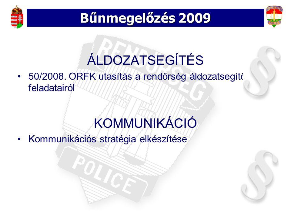 Bűnmegelőzés 2009 ÁLDOZATSEGÍTÉS KOMMUNIKÁCIÓ