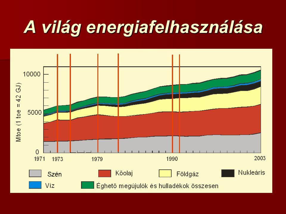 A világ energiafelhasználása