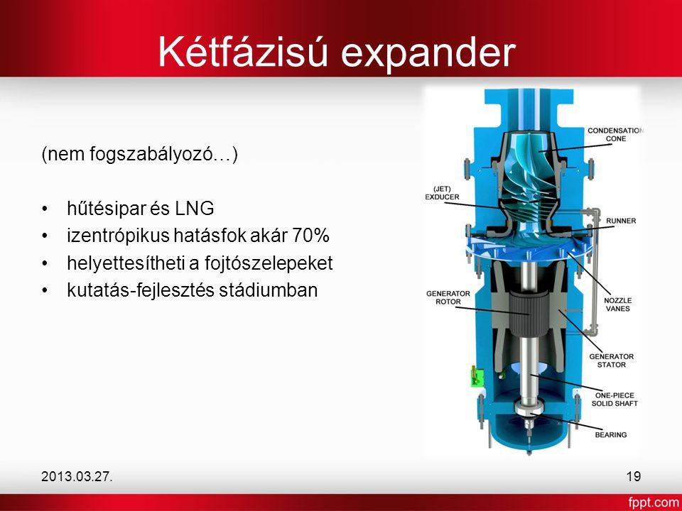 Kétfázisú expander (nem fogszabályozó…) hűtésipar és LNG
