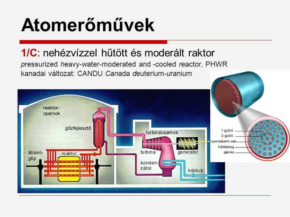 Atomerőművek 1/C: nehézvízzel hűtött és moderált raktor