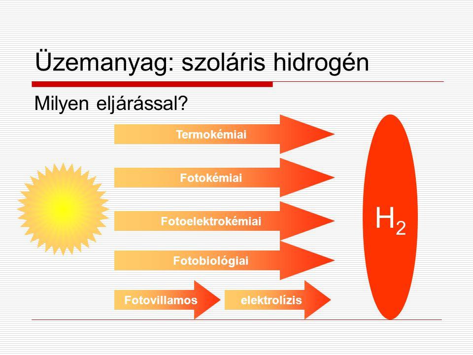 Üzemanyag: szoláris hidrogén