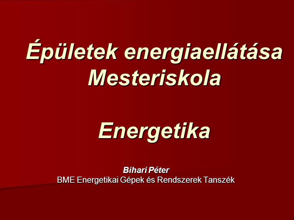 Épületek energiaellátása Mesteriskola Energetika