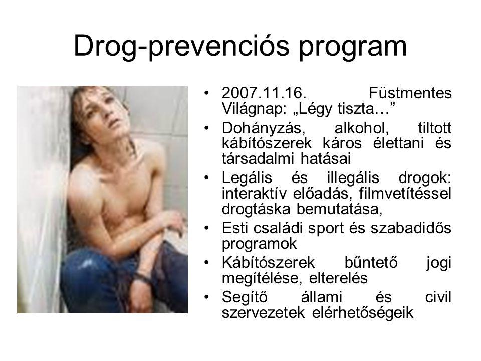 Drog-prevenciós program