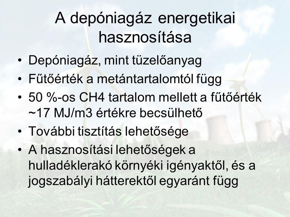 A depóniagáz energetikai hasznosítása