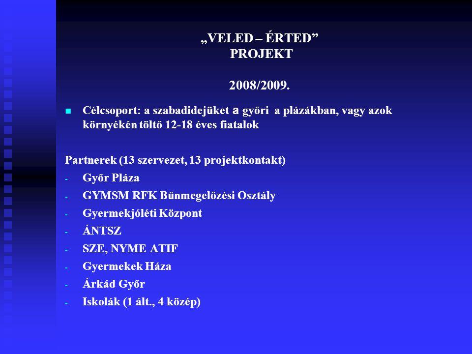 """""""VELED – ÉRTED PROJEKT 2008/2009."""