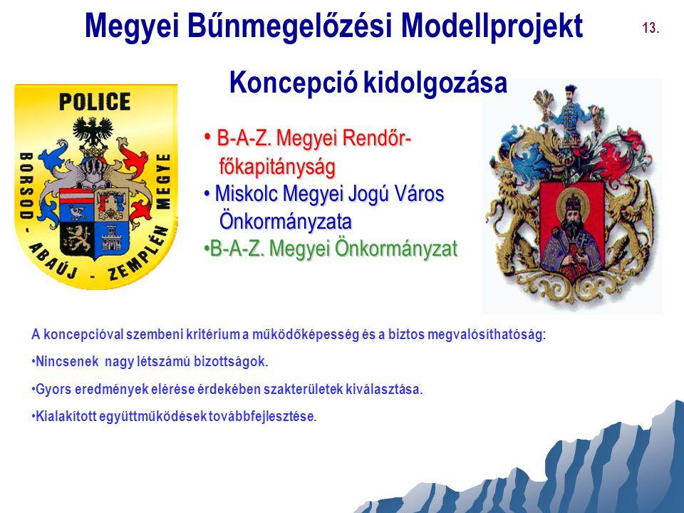 Megyei Bűnmegelőzési Modellprojekt Koncepció kidolgozása