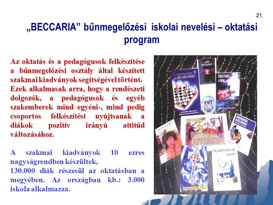 """""""BECCARIA bűnmegelőzési iskolai nevelési – oktatási program"""