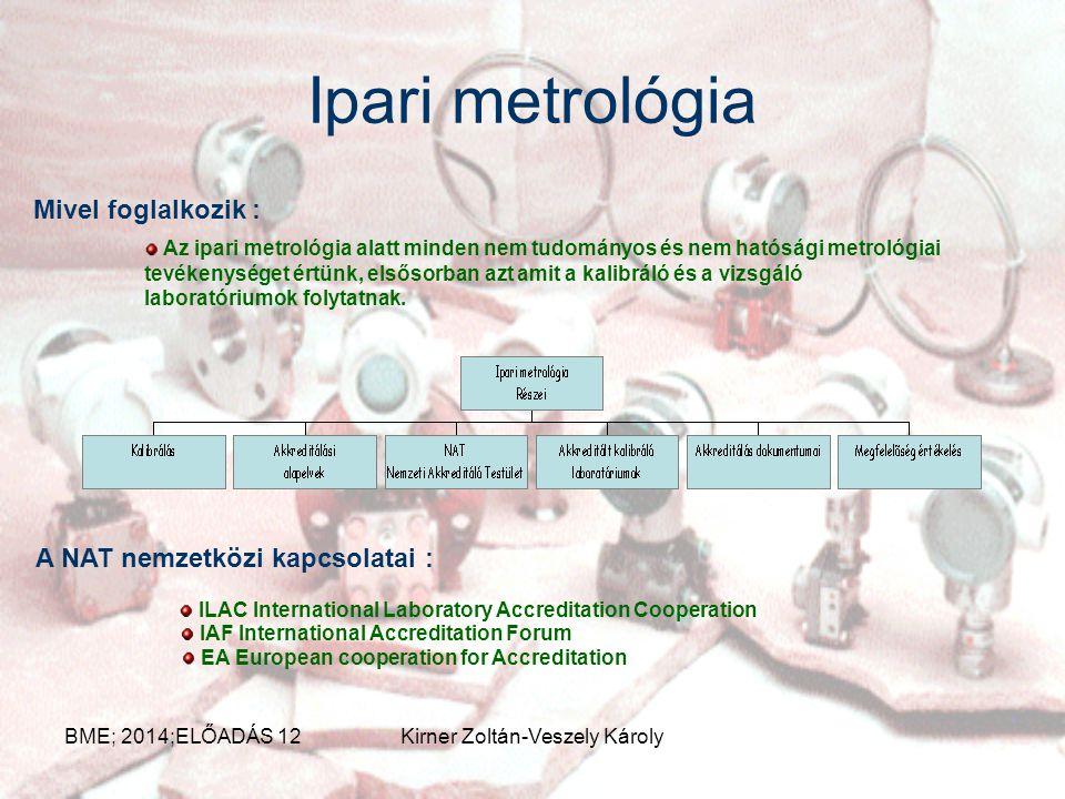 Ipari metrológia Mivel foglalkozik : A NAT nemzetközi kapcsolatai :
