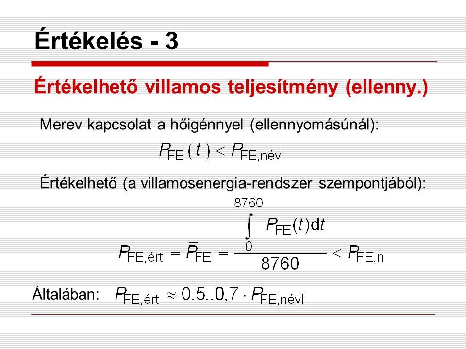 Értékelés - 3 Értékelhető villamos teljesítmény (ellenny.)