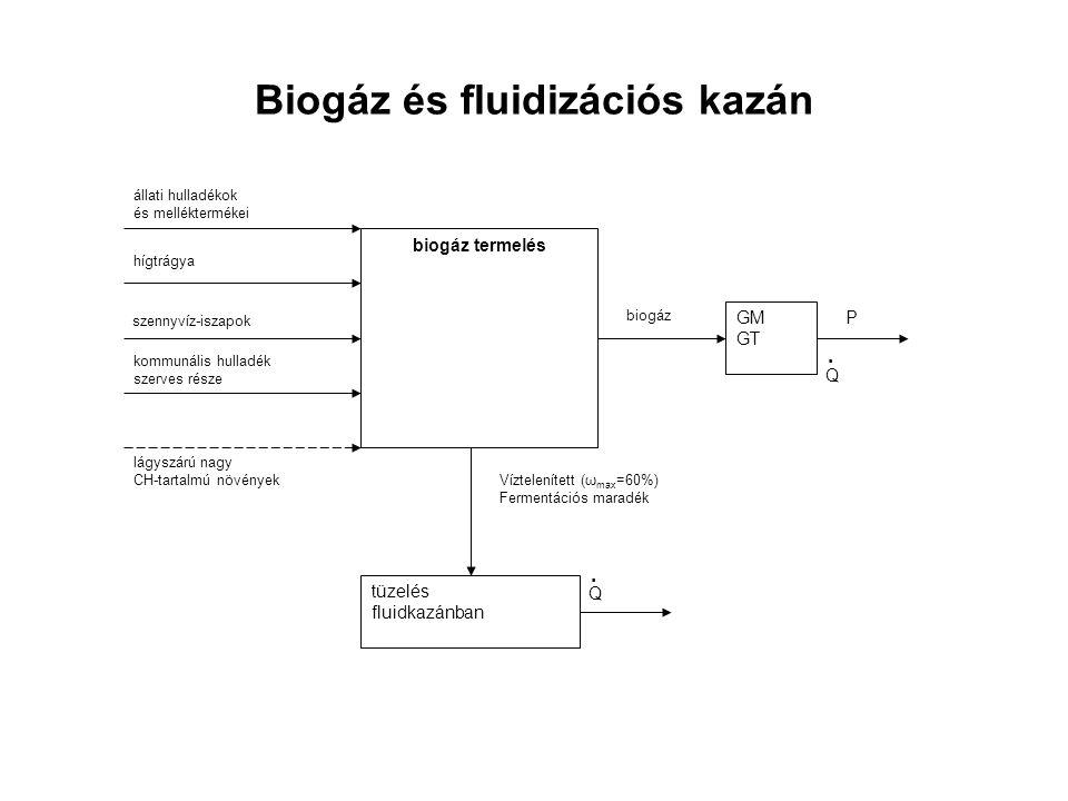 Biogáz és fluidizációs kazán