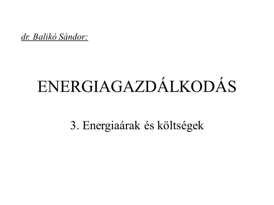 3. Energiaárak és költségek