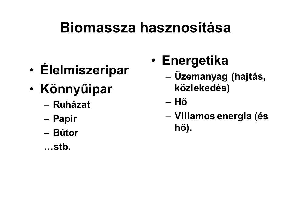 Biomassza hasznosítása