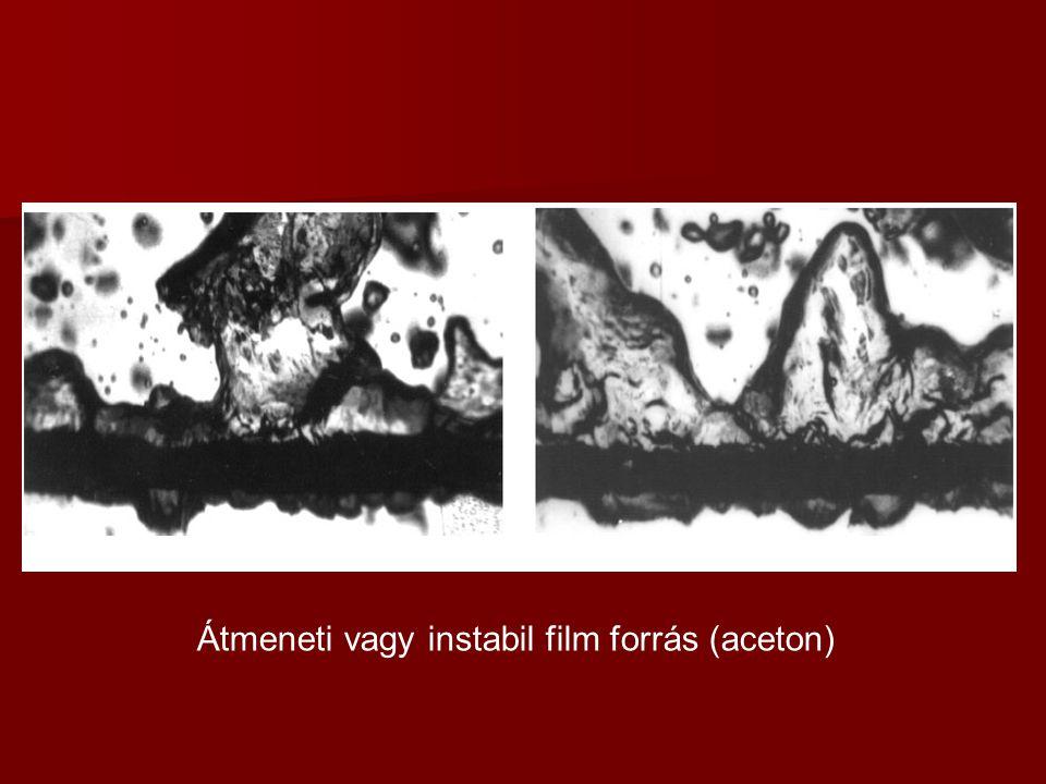 Átmeneti vagy instabil film forrás (aceton)