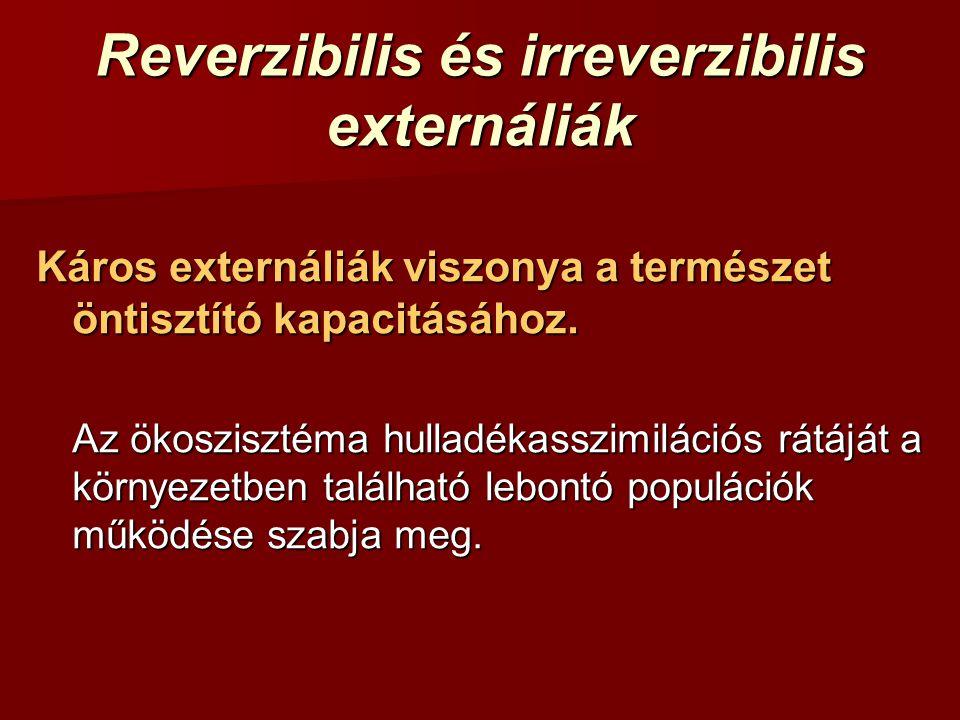 Reverzibilis és irreverzibilis externáliák