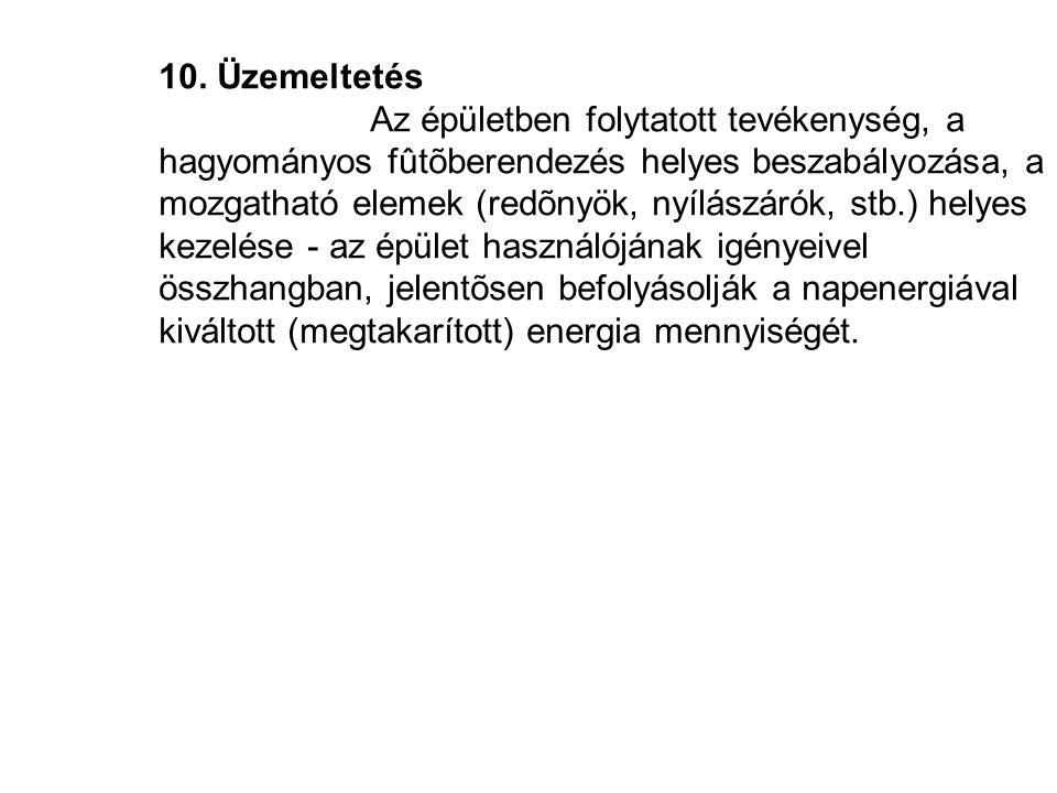 10. Üzemeltetés