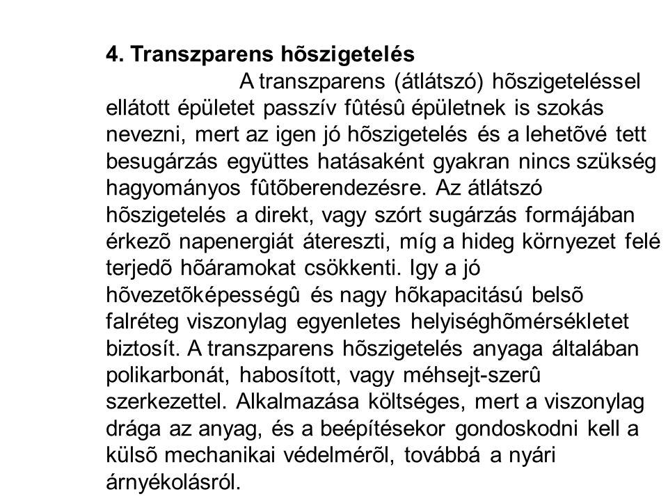 4. Transzparens hõszigetelés