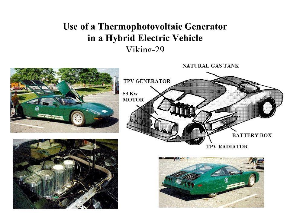 Use of a Thermophotovoltaic Generator in a Hybrid Electric Vehicle Viking-29