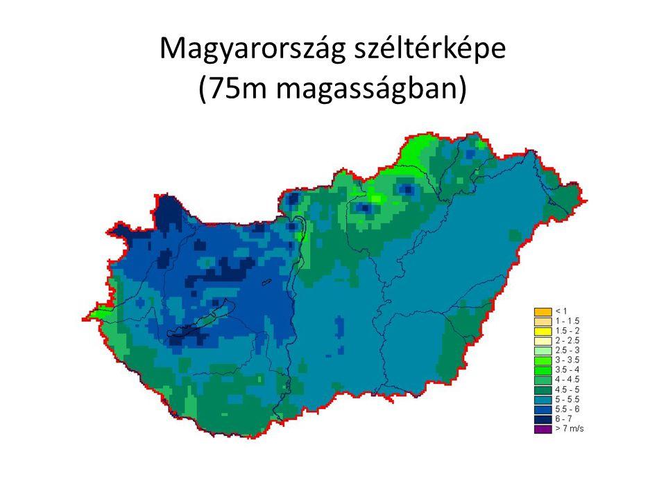 Magyarország széltérképe (75m magasságban)